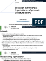 Higher Education Institutions as Learning Organizations - a Systematic Literature Review