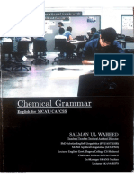 Chemical Grammar Compressed