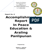 Social Studies Accomplishment Report in a p