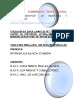 Utilización de Block a base de Pet y concreto en Centro de prevensión juvenil, ubicado en el Municiio de Ecaepec, Estado de México..pdf