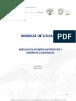 Manual de Usuario Registro de Riesgos Antrópicos y Amenazas Naturales