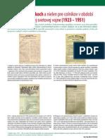 Časopisy o colníkoch a nielen pre colníkov v období I. ČSR a po druhej svetovej vojne (Colné aktuality č. 9 - 10/2010)