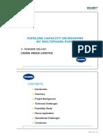 Pipeline capacity increase
