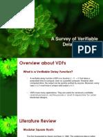 Survey of VDFs