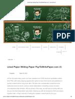 Lined Paper Writing Paper PayToWritePaper.com - GuraruGuraru