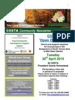 COSTA Newsletter - Apr 2019