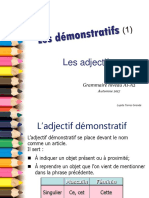 Les adjectifs demonstratif s 1