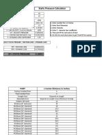 Static Pressure Calculator