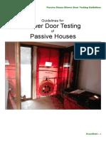 Passive House Blower Door Testing