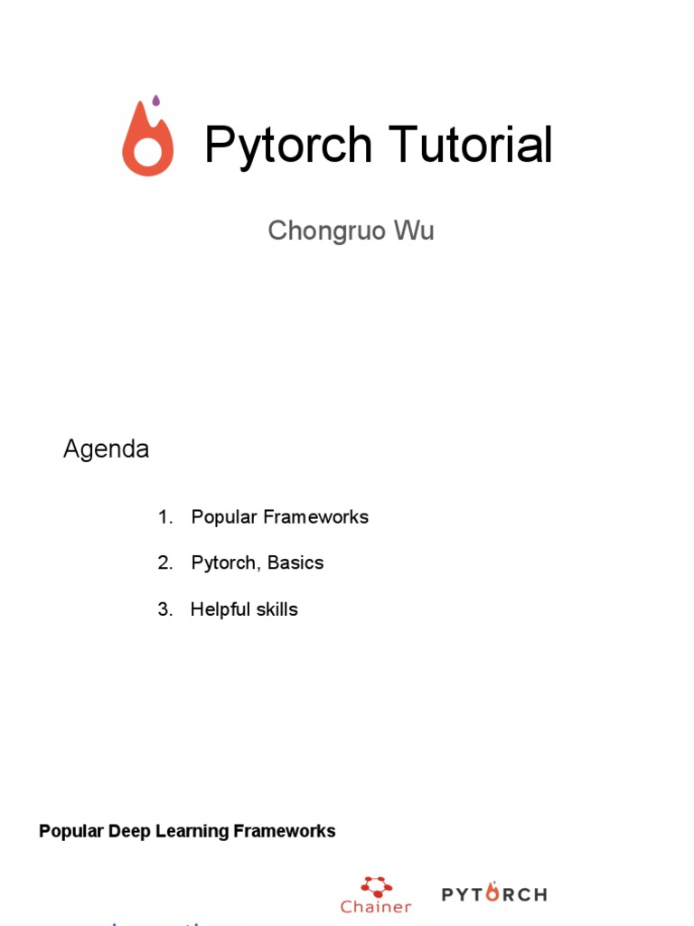 Pytorch Tutorial   Deep Learning   Computer Engineering