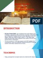 Human Values Based on Shri Guru Granth Sahib