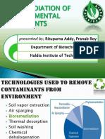 Bioremediation of Environmental Pollutants