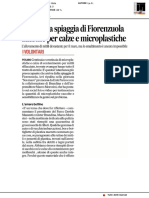 Ripulita la spiaggia di Fiorenzuola, allarme per calze e microplastiche  - Il Corriere Adriatico del 15 aprile 2019