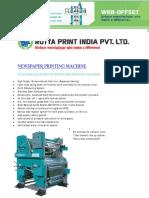 Newspaper Printing Machines | Rottaprintindia