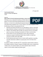 KNM Letter