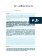 Resumen Don Quijote de La Mancha (Parte I)