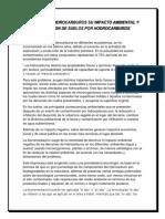 Derrame de Hidrocarburos Su Impacto Ambiental y Evaluacion de Suelos Por Hodrocarburos