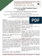 A Case of Follicular Cyst in Lower Right Mandibular Region - A Case Report