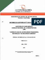 Informe de la Contraloría sobre el CNM
