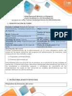 Syllabus Del Curso Teorías Contemporáneas de Administración