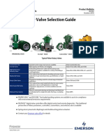 Product Bulletin Fisher Rotary Valve Selection Guide en 135280
