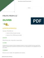 Olives Nutrition Information & Storage Information