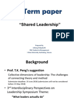 Term Paper - Shared Leadership