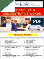 Basic 2 (2b Demonstrative Words