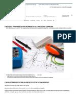Checklist Para Executar Um Projeto Elétrico Com Capricho - CERRO AZUL