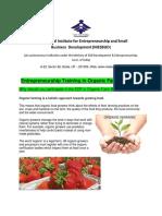 Entrepreneurship Training Organic Farming 24 June 2018
