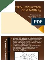 Industrial Ptoduction of Vitamin b12