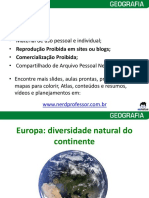 Europa Diversidade Natural Do Continente