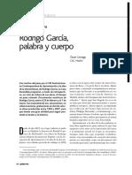 Primer Acto 322. Rodrigo Garcia. Palabra y Cuerpo