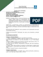 1 Programa História Do Brasil II