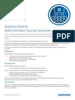 CT70 v2017.1.1 Course Overview Sophos Central Administrator