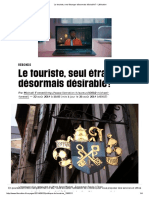 Le touriste_article de presse