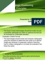 Radiologic Positioning Principles