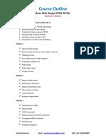 Web Design Course Content