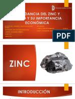 EQUIPO N°1 - ABUNDANCIA DEL ZINC Y PLOMO Y SU IMPORTANCIA ECONÓMICA