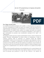 La Matanza Del 6 de Julio de 1944 Perpetrada Por El Régimen Del Partido Nacional