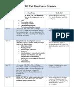tled 408 unit plan schedule