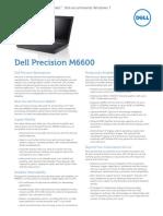 Precision m6600 Spec Sheet