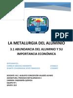 EQUIPO N°1- ABUNDANCIA DEL ALUMINIO Y SU IMPORTANCIA ECONOMICA