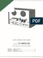 Akai GX 4000 D Service Manual