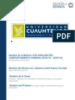 Johanna Ivette Suarez Carvajal_Actividad 3.2 Reseña de Lectura. El Mundo Desbocado