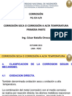 Corrosión seca o corrosión a alta temperatura