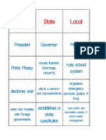 local government matching cards