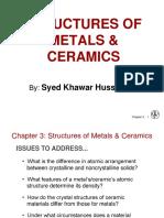 Structures of Metals and Ceramics