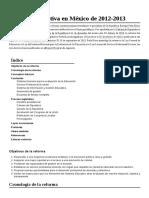 Wiki Reforma Educativa en México de 2012-2013