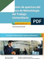 metodología del trabajo universitario
